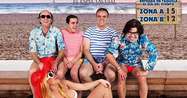 """A ALMERÍA llega la gira del espectáculo""""VERANICO AZUL"""". El nuevo espectáculo de Paco Calavera, Pepe Céspedes, Kikín Fernández y Alvarito. Risas, bailes, personajes típicos almerienses y canciones en directo.""""VERANICO AZUL""""es un espectáculo teatral que recorre situaciones comunes de las vacaciones de la temporada estival, metiendo el dedo en la llaga de los momentos más absurdos, hasta llegar al final del verano. Un espectáculo tendrá lugar el viernes 16 de enero a las 21,30h."""