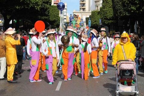 En ALMERÍA vamos a destacar el desfile de carnaval que tendrá lugar a las 12:00h, el domingo 15 de febrero