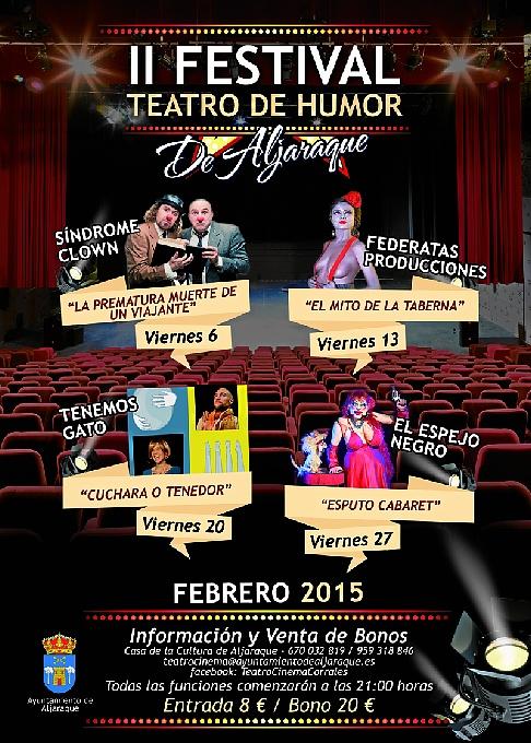 En la provincia de HUELVA se está celebrando II FESTIVAL TEATRO DE HUMOR DE ALJARAQUE y, mañana 20 de febrero es el turno de ¿CUCHARA O TENEDOR?