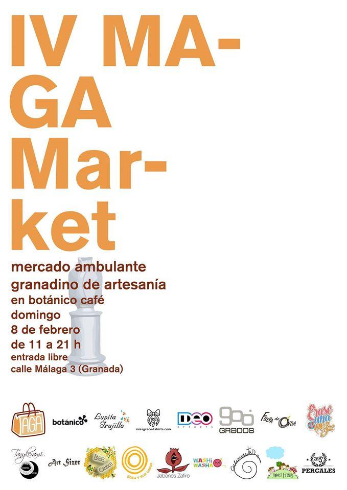 """EN GRANADA, el Mercado Ambulante Granadino de Artesanía, """"Maga Maret"""" celebra su cuarta edición, el domingo 8 de febrero de 11:00 a 21:00 h, en el Restaurante Botánico Café, así que no se lo pierdan y acudan con sus familiares y amigos."""