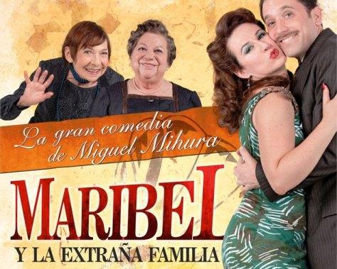 En CÓRDOBA nos espera MARIBEL Y LA EXTRAÑA FAMILIA, una de las mejores comedias del escritor y periodista Miguel Mihura, que vuelve a los escenarios bajo la dirección de Gerardo Vega.