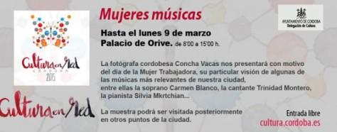 a fotógrafa cordobesa Concha Vacas presenta su exposición Mujeres Músicas.