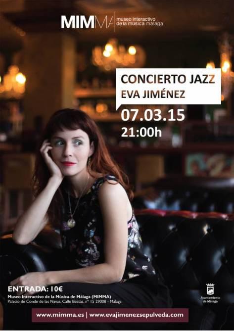 El sábado 7 el jazz tiene una cita en Málaga de la mano de la cantante malagueña Eva Jiménez.