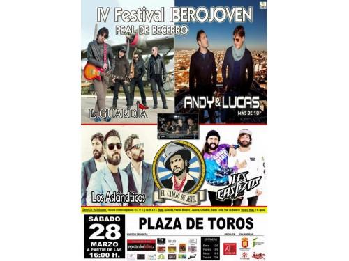 La Guardia, Andy & Lucas, Los Aslándticos, SDM, El canijo de Jerez y Les Castizos componen el programas del IV Festival Ibero Joven que se celebra en Peal de Becerro, en la antesala de la Semana Santa