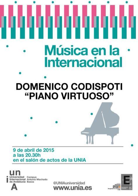 Mañana viernes el virtuoso pianista italiano Domenico Codispoti actuará en Baeza