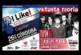 El próximo sábado dos de mayo tendrá lugar en el Teatro de la Axerquía, en Córdoba el I Like It festival
