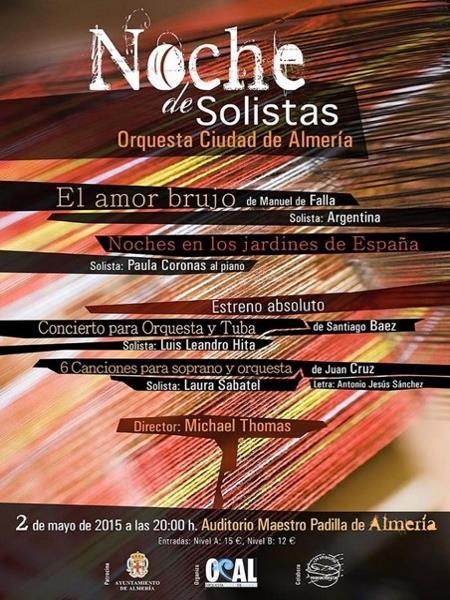 Para esta semana os recomendamos que no os perdáis la Noche de Solistas en Almería