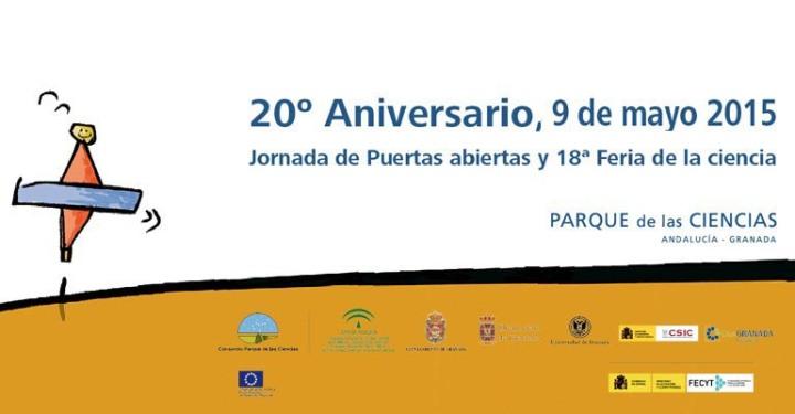 En Granada se celebra una exposición en conmemoración del 20 aniversario del Parque de las Ciencias en Granada del 28 de septiembre al 10 de enero de 2016.