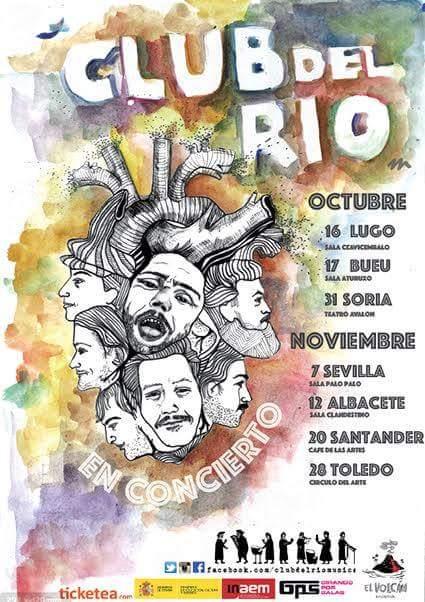Club del Río en concierto el 20 de noviembre en Santander y el 28 en Toledo.