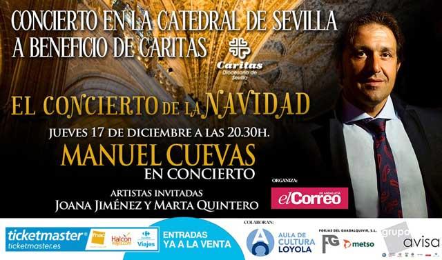 El concierto benéfico que se celebra el jueves 17 de diciembre del artista Manuel Cuevas.