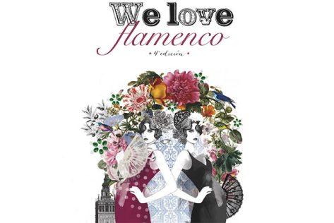 La Pasarela de Moda Flamenca We Love Flamenco en su sede habitual, el Salón Real del Hotel Alfonso 13 , Sevilla.